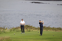 Mark Corrigan (Castlebar) during the final of the AIG Jimmy Bruen Shield Connacht Final, in Galway Bay Golf Club, Galway, Ireland. 12/08/2017<br /> Picture: Fran Caffrey / Golffile