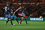 Emilio Nsue of Middlesbrough striking towards goal - Sky Bet Championship - Middlesbrough vs Sheffield Wednesday - Riverside Stadium - Middlesbrough - England - 28th of December 2015 - Picture Jamie Tyerman/Sportimage