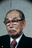 January, 1978. Tokyo, Japan. Japanese Prime Minister, Takeo Fukuda, during a press conference in Tokyo.
