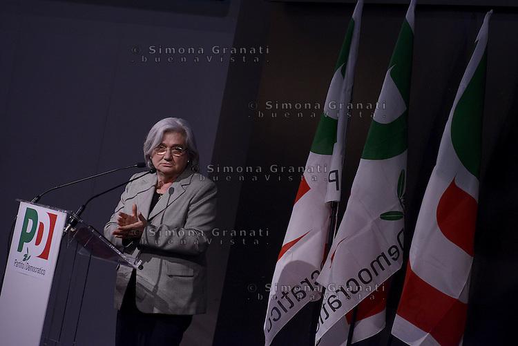 Roma, 21 Marzo 2015.<br /> Rosy Bindi<br /> Assemblea della sinistra del Partito Democratico all'Acquario di Roma.<br /> A sinistra nel PD,. Per la Democrazia e il lavoro.