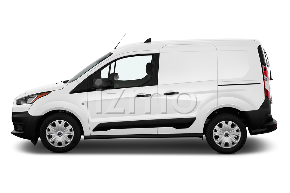 Car Driver side profile view of a 2019 Ford Transit-Connect XL 5 Door Car Van Side View