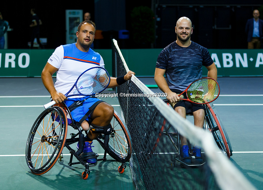 Rotterdam, The Netherlands, 12 Februari 2020, Wheelchair: Tom Egberink (NED), Stefan Olsson (SWE).<br /> Photo: www.tennisimages.com