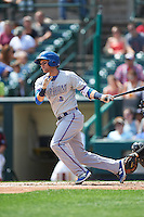 Durham Bulls shortstop Jake Hager (2) at bat during a game against the Rochester Red Wings on July 20, 2016 at Frontier Field in Rochester, New York.  Rochester defeated Durham 6-2.  (Mike Janes/Four Seam Images)
