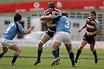 Andrew Van der Heijden is taken by Stan Wright. Air NZ Cup week 4 game between the Counties Manukau Steelers and Northland played at Mt Smart Stadium on the 19th of August 2006. Northland won 21 - 17.