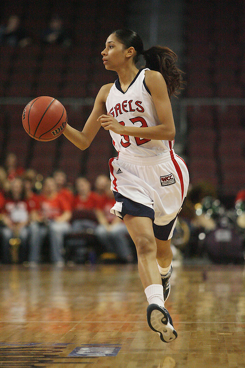 LAS VEGAS, NV - MARCH 7:  Jasmine Smith during Pepperdine's 62-56 win over the St. Mary's Gaels in the 2010 Zappos West Coast Conference Women's Basketball Championships on March 7, 2010 at Orleans Arena in Las Vegas Nevada.