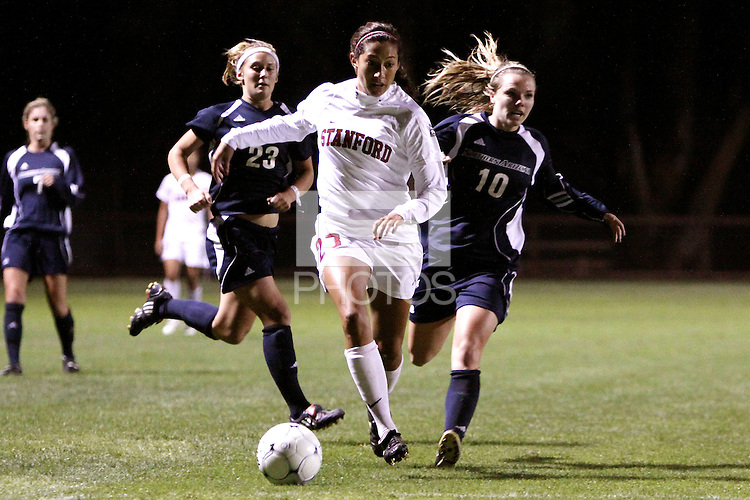 STANFORD, CA - NOVEMBER 12:  Christen Press of the Stanford Cardinal during Stanford's 2-0 win over Northern Arizona on November 12, 2009 at Laird Q. Cagan Stadium in Stanford, California.