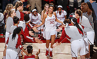 Stanford, CA - Saturday December 16, 2015: Kailee Johnson is introduced before the Stanford vs Tennessee basketball game Wednesday night at Maples.<br /> <br /> The Cardinal defeated the Volunteers 69-55.<br /> .