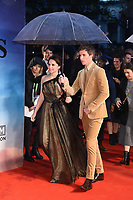 "Felicity Jones and Eddie Redmayne<br /> arriving for the ""Aeronauts"" screening as part of the London Film Festival 2019 at the Odeon Leicester Square, London<br /> <br /> ©Ash Knotek  D3523 07/10/2019"