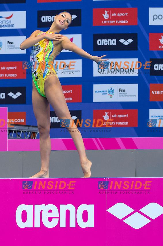 CERRUTI Linda ITA Italy <br /> Solo Free<br /> London, Queen Elizabeth II Olympic Park Pool <br /> LEN 2016 European Aquatics Elite Championships <br /> Synchronized Swimming  <br /> Day 01 09-05-2016<br /> Photo Andrea Staccioli/Deepbluemedia/Insidefoto