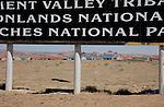 Highway 160, sign detail, Navajo Housing, Kayenta, Arizona, Navajo Reservation, Navajo Nation, U.S.A.,