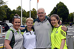 Frank, Eileen, Allison and Emily Shaw from Killarney.<br /> <br /> Kerry win the 2016 All-Ireland Minor Football Championship.<br /> Photo Don MacMonagle