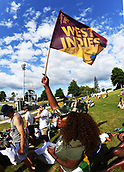 9th December 2017, Seddon Park, Hamilton, New Zealand; International Test Cricket, 2nd Test, Day 1, New Zealand versus West Indies;  West Indies fan on the bank