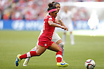 Desiree Scott (CAN), JUNE 21, 2015 - Football / Soccer : <br /> FIFA Women's World Cup Canada 2015 Round of 16 match between Canada 1-0 Switzerland at BC Place Stadium, <br /> Vancouver, Canada. (Photo by Yusuke Nakansihi/AFLO SPORT)