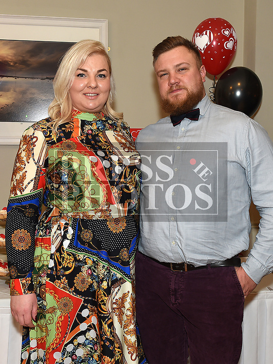 Deivydas Gudziunas and Justina Gudziuiene at the Odie Wants to Walk Valentine Ball in the Glenside hotel. Photo:Colin Bell/pressphotos.ie