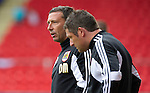 St Johnstone v Bristol City....28.07.12  Pre-Season Friendly.Derek McInnes back at McDiarmid Park with Tony Docherty.Picture by Graeme Hart..Copyright Perthshire Picture Agency.Tel: 01738 623350  Mobile: 07990 594431