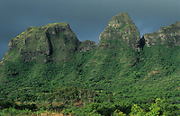 Anahola Mountains after rainstorm, Kauai, Hawaii, USA