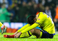 Blackburn Rovers' Bradley Dack looks dejected after his side conceded a second goal in injury time<br /> <br /> Photographer Alex Dodd/CameraSport<br /> <br /> The EFL Sky Bet Championship - Leeds United v Blackburn Rovers - Wednesday 26th December 2018 - Elland Road - Leeds<br /> <br /> World Copyright &copy; 2018 CameraSport. All rights reserved. 43 Linden Ave. Countesthorpe. Leicester. England. LE8 5PG - Tel: +44 (0) 116 277 4147 - admin@camerasport.com - www.camerasport.com