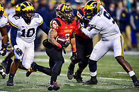 College Park, MD - NOV 11, 2017: Maryland Terrapins running back Lorenzo Harrison III (2) runs the football during game between Maryland and Michigan at Capital One Field at Maryland Stadium in College Park, MD. (Photo by Phil Peters/Media Images International)