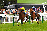 Winner of The British EBF Premier Fillies' Handicap Sea of Faith ridden by James Doyle and trained by William Haggas  during Horse Racing at Salisbury Racecourse on 15th August 2019
