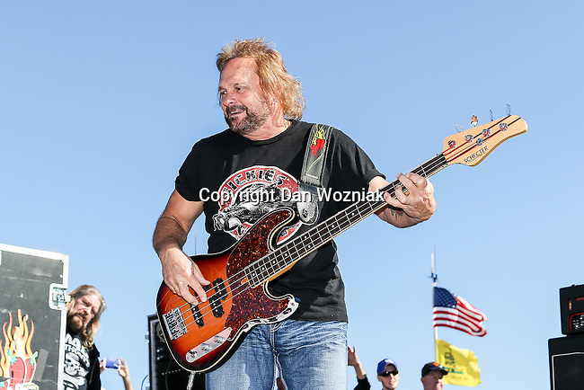 Michael Johnson rocks out during the concert before the NASCAR AAA Texas 500 race at Texas Motor Speedway in Fort Worth,Texas.