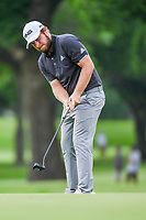 Tyrrell Hatton (ENG) watches his putt on 2 during round 2 of the 2019 Charles Schwab Challenge, Colonial Country Club, Ft. Worth, Texas,  USA. 5/24/2019.<br /> Picture: Golffile   Ken Murray<br /> <br /> All photo usage must carry mandatory copyright credit (© Golffile   Ken Murray)