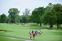 Michelle Wie (USA), Stacy Lewis (USA), and Sandra Gal (DEU)  walk down number 1 during Thursday's round 1 of the 2017 KPMG Women's PGA Championship, at Olympia Fields Country Club, Olympia Fields, Illinois. 6/29/2017.<br /> Picture: Golffile | Ken Murray<br /> <br /> <br /> All photo usage must carry mandatory copyright credit (&copy; Golffile | Ken Murray)