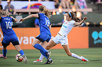 Seattle, WA - Saturday June 24, 2017: Shea Groom during a regular season National Women's Soccer League (NWSL) match between the Seattle Reign FC and FC Kansas City at Memorial Stadium.