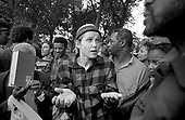 Argument and debate at Speakers Corner, Hyde Park, London