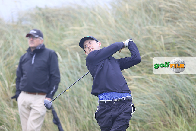 Liam Grehan (Mullingar) during the semi final of the  North of Ireland Amateur Championship, Portstewart Golf Club, Portstewart, Antrim,  Ireland. 12/07/2019<br /> Picture: Golffile | Fran Caffrey<br /> <br /> <br /> All photo usage must carry mandatory copyright credit (© Golffile | Fran Caffrey)