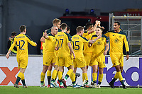 James Forrest of Celtic celebrates with team mates after scoring the draw goal of 1-1 <br /> Roma 7-11-2019 Stadio Olimpico <br /> Football Europa League 2019/2020 <br /> SS Lazio - Celtic <br /> Photo Andrea Staccioli / Insidefoto