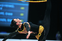 Alina Maksymenko of Ukraine performs at 2011 World Cup at Portimao, Portugal on April 29, 2011.  .