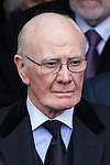 © Joel Goodman - 07973 332324 . 16/01/2014 . Salford , UK . Sir Menzies Campbell , MP for North East Fife , after the service . The funeral of Labour MP Paul Goggins at Salford Cathedral today (Thursday 16th January 2014) . The MP for Wythenshawe and Sale East died aged 60 on 7th January 2014 after collapsing whilst out running on 30th December 2013 . Photo credit : Joel Goodman