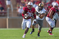 STANFORD, CA - SEPTEMBER 13, 2014:  Barry Sanders during Stanford's game against Army. The Cardinal defeated the Black Knights 35-0.