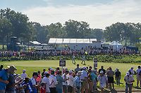Justin Thomas (USA) sinks his birdie putt on 11 during 1st round of the 100th PGA Championship at Bellerive Country Cllub, St. Louis, Missouri. 8/9/2018.<br /> Picture: Golffile | Ken Murray<br /> <br /> All photo usage must carry mandatory copyright credit (© Golffile | Ken Murray)