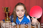 Valentina Puokalyte Killarney who won the National Table Tennis u12 title in Killarney last weekend