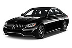 2019 Mercedes Benz C-CLass 63-AMG 4 Door Sedan Angular Front automotive stock photos of front three quarter view