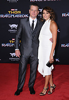 10 October  2017 - Hollywood, California - Matt Damon, Luciana Barroso. World Premiere of &quot;Thor: Ragnarok&quot; held at The El Capitan Theater in Hollywood. <br /> CAP/ADM/BT<br /> &copy;BT/ADM/Capital Pictures