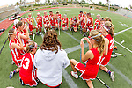 San Diego, CA 05/21/11 - The Cathedral Catholic girls' prayer circle before their game against Coronado for the 2011 CIF San Diego Division 2 Championship game.