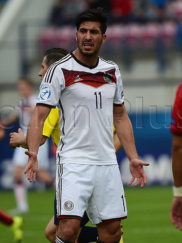 27.06.2015. Andruv Stadium, Olomouc, Czech Republic. U21 European championships, semi-final. Portugal versus Germany.  Emre Can (Germany) frustrated after the game which they lost 5-0
