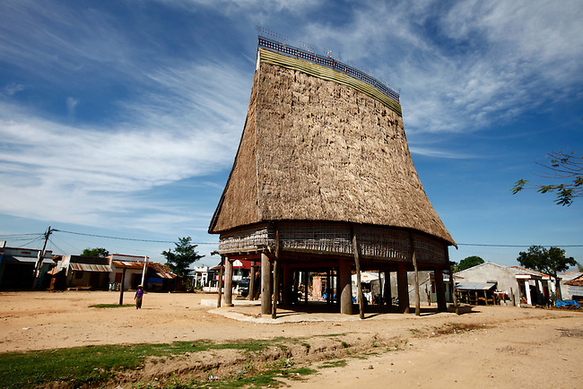 "A ""rong,"" or communal house, occupies the square of a Bahnar village near the Central Highlands town of Kon Tum, Vietnam. The Bahnar are one of more than two dozen hill tribes that were once called Montagnards in the West, but are now known as the Dega. April 14, 2012."