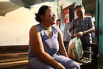 Tran Thi Ty Na, 33, sits on bed in her family's home in Da Nang, Vietnam, with her mother, Hoang Thi Te, 75, in the background. Na and her older brother are second-generation victims of dioxin exposure, the result of the U.S. military's use of Agent Orange and other herbicides during the Vietnam War more than 40 years ago. Na's father, who served as a soldier during the conflict, died years ago from illnesses caused by Agent Orange. Her mother and aunt are now the sole caregivers for herself and her older brother, who is completely and mentally disabled because of their father's exposure. Na has developed muscular dystrophy and other conditions like her brother and is angry at the cruel fate that awaits her. The family gets no government support, and Te, the mother, wonders who will take care of her children when she is gone. She calls the U.S. government ?heartless? for using toxic herbicides during the war, and says she wishes the U.S. military would have killed her children right away instead of leaving them to suffer decades later. ?If they had died in the war, this is normal because it is a war,? Te says. ?But why did the U.S. government spray this Agent Orange?? The Vietnam Red Cross estimates that at least 3 million Vietnamese suffer from illnesses related to dioxin exposure, including at least 150,000 people born with severe birth defects since the end of the war. The U.S. government is paying to clean up dioxin-contaminated soil at the Da Nang airport, which served as a major U.S. base during the conflict. But the U.S. government still denies that dioxin is to blame for widespread health problems in Vietnam and has never provided any money specifically to help the country's Agent Orange victims. March 18, 2013.