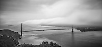 Looking into San Francisco Bay from the Marin Headlands on an early summer morning provides contrast and drama.