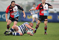 Dungannon loose head Mark Neilly gathers this loose ball during the First Trust Senior Cup Final at Ravenhill. Result - Dungannon 27pts Harlequins 10pts.