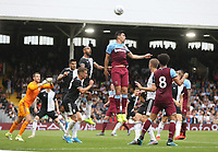 Fulham defend a corner challenged by West Ham United's Fabian Balbuena<br /> <br /> Photographer Rob Newell/CameraSport<br /> <br /> Football Pre-Season Friendly - Fulham v West Ham United - Saturday July 27th 2019 - Craven Cottage - London<br /> <br /> World Copyright © 2019 CameraSport. All rights reserved. 43 Linden Ave. Countesthorpe. Leicester. England. LE8 5PG - Tel: +44 (0) 116 277 4147 - admin@camerasport.com - www.camerasport.com