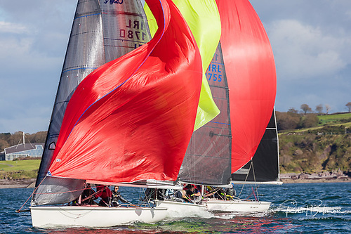 Tight racing for Southern Championships honours in the 14 boat 1720 sportsboat fleet