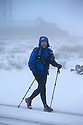 21/02/15  <br /> <br /> After heavy snow showers across the Peak District, a hiker braves the makes his way past The Cat and Fiddle Inn between Buxton and Macclesfield on the Derbyshire, Cheshire border.<br /> <br /> All Rights Reserved - F Stop Press.  www.fstoppress.com. Tel: +44 (0)1335 418629 +44(0)7765 242650