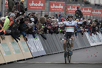 World Champion Sanne Cant (BEL/Beobank-Corendon) winning her 100th race.<br /> <br /> Women's Race<br /> UCI CX World Cup Zolder / Belgium 2017