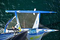 24 hours with François Gabart on board the trimaran Macif