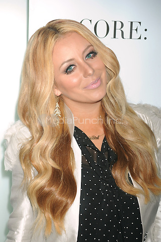 Aubrey O'Day at the 'Celebrity Apprentice' Panel Discussion at The Core Club on May 22, 2012 in New York City.. Credit: Dennis Van Tine/MediaPunch