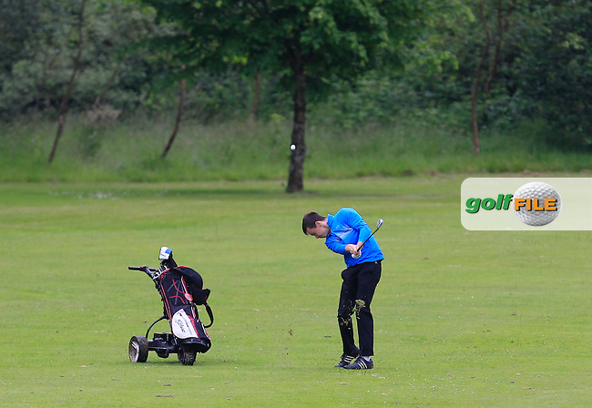 Daragh Coleman (Skerries) on the 6th fairway during Round 2 of the Irish Boys Amateur Open Championship at Tuam Golf Club on Wednesday 24th June 2015.<br /> Picture:  Thos Caffrey / www.golffile.ie